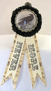 Halloween Rosette with Paper Tails