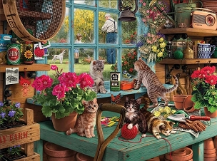 Curious Kittens 1000  Pc. Jigsaw Puzzle