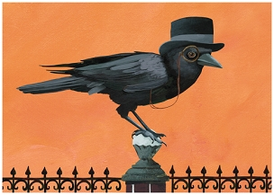 Dapper Crow Card