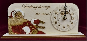 Ginger Cottage Christmas Clock- Dashing Through The Snow