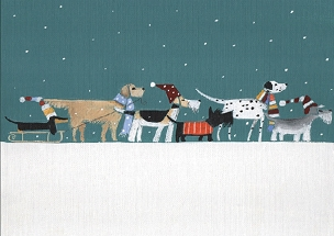 Dogs in a Row Boxed Cards