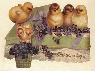 Easter Placemats - Chicks and Violets