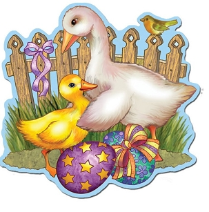 Easter Cutout - Duck & Duckling