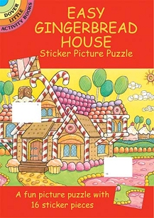 Easy Gingerbread House Sticker Activity Book