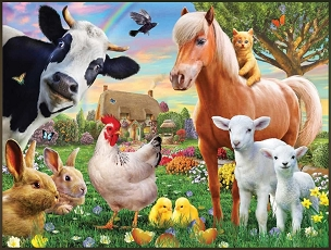 Farm Animals Puzzle 300 Piece