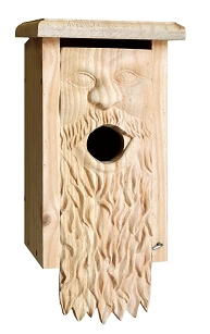 Carved Bluebird House - Father TIme