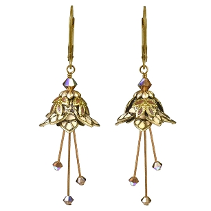 Fire Sprite Earrings - Gold/Cream