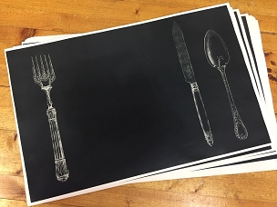 Fork, Knife & Spoon Paper Placemats