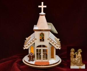 Ginger Cottage Ornament - Nativity Chapel