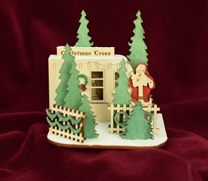 Ginger Cottage Ornament-Christmas Tree Lot