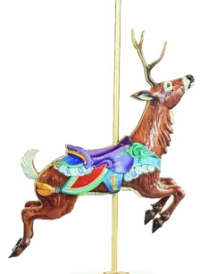 Ginger Stacks Carousel Animal Ornaments