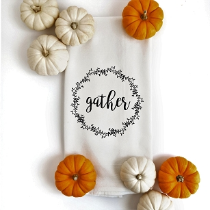 Gather Wreath Tea Towel