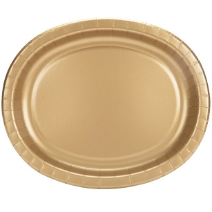 Gold Oval Heavy Duty Paper Platter