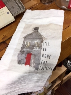 I'll Be Home for Christmas Tea Towel