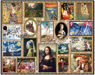 Great Paintings 1000 Pc. Jigsaw Puzzle