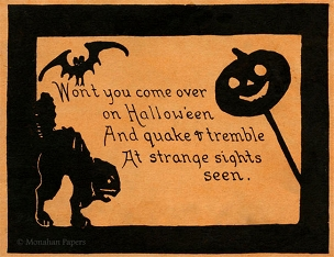 Halloween Placemat - Won't you come over...