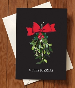Christmas Card-Merry Kissmas