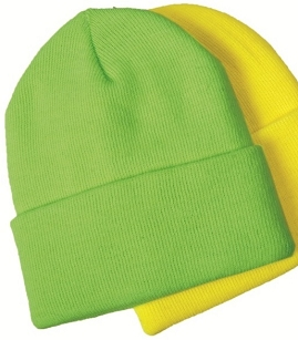 HIVIS Green Knit Cap