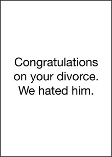 Congratulations on Divorce
