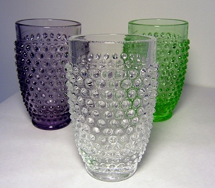 Clear Glass Hobnail Tumbler
