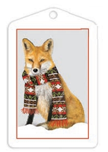 Holiday Fox Gift Tags
