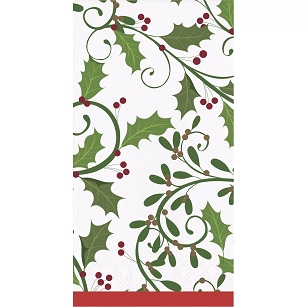 HOLIDAY HOLLY PAPER GUEST TOWELS