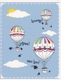 Hot Air Balloons Graduation Card