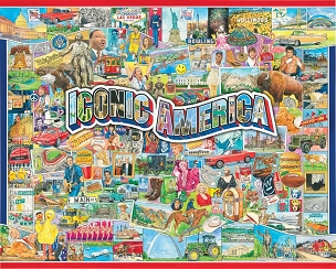 Iconic America 1000 Pc. Jigsaw Puzzle