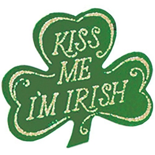 St. Patrick's Day Boutonniere-Kiss Me I'm Irish