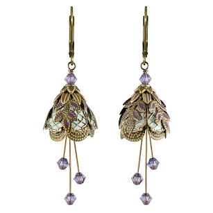 Italian Courtesan Earrings - Purple