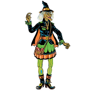 Vintage Halloween Jointed Witch 57