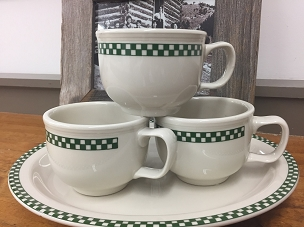 Jumbo Checkers Mug - Green