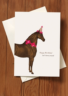 Birthday Card-Let's Horse Around