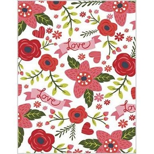 Love Floral Valentine Card