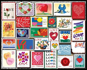 Love Stamps 1000  Pc. Jigsaw Puzzle