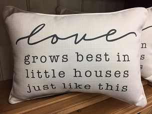 Love Grows Best Pillow