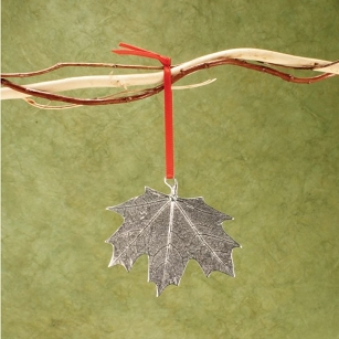 Pewter Maple Leaf Ornament