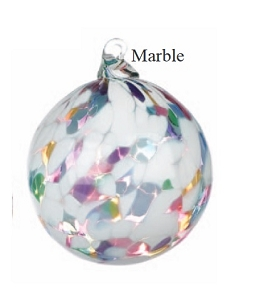 Multi Color & White Marble Glass Ball