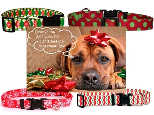 Holiday Dog Collars - Medium