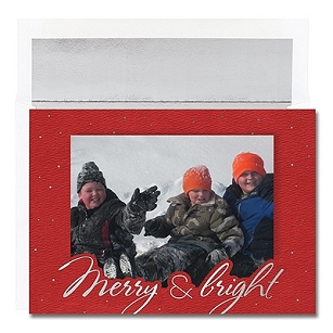 Merry & Bright Photo Card - Boxed