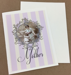 Mother & Child Glitter Card