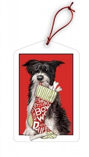 Mutt & Stocking Holiday Gift Tags