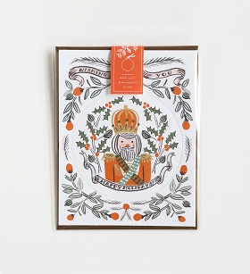 Nutcracker Ornament Card