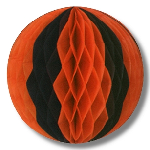 Tissue Ball-Orange and Black-14