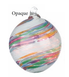 Multi Color & White Opaque Glass Ball