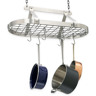 Gourmet Classic Oval Stainless Steel Pot Rack