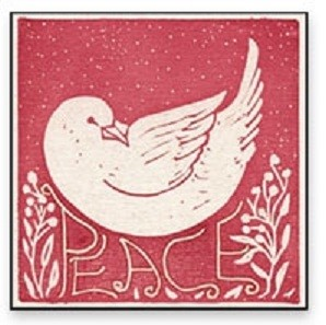 Peace Doves Christmas Gift Enclosures