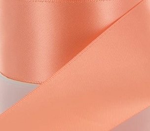 Peach Double Face Satin Ribbon