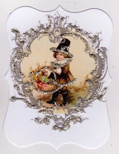 Thanksgiving Placecard/Gift Tag-Pilgrim Boy