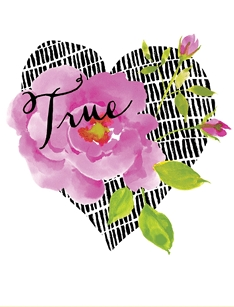 Pink Rose True Love Greeting Card